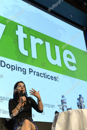 Betsy Andreu Spouse of Former Cyclist and Current Cycling Team Director Frankie Andreu Speaks During the World Anti-doping Agency (wada) Anti-doping Organization Symposium in Lausanne Switzerland 24 March 2015 the Annual Symposium This Year Takes Place From 24 to 26 March Switzerland Schweiz Suisse Lausanne