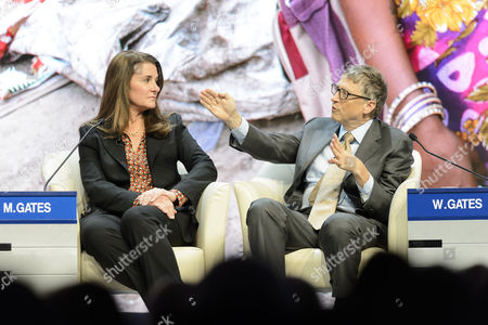 Melinda French Gates Co-chair Bill & Melinda Gates (l) and William H Gates Iii Co-chair Bill & Melinda Gates Foundation (r) Speak During a Panel Session at the 45th Annual Meeting of the World Economic Forum Wef in Davos Switzerland 23 January 2015 the Overarching Theme of the Meeting Which Takes Place From 21 to 24 January is 'The New Global Context ' Switzerland Schweiz Suisse Davos