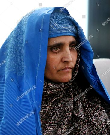 Afghan Woman Sharbat Gula Talks with Afghan President Ashraf Ghani (not Pictured) After She Arrived From Pakistan in Kabul Afghanistan 09 November 2016 Pakistani Anti-corruption and Immigration Court Sentenced on 04 November 15 Days Jail and 110000 Pak Rupees (1000 Us Dollar) Fine to Sharbat Gula Before Being Deported to Afghanistan Gula Has Been Detained For Allegedly Possessing a Fake Identity Card She was Arrested on 26 October For Allegedly Obtaining Pakistani Identity Documents For Herself and Her Two Children After Bribing Three Officials Charges That Could Land Her a 14-year Jail Sentence Sharbat Gula Became Famous by the Photographic Portrait 'Afghan Girl' Taken of Her with Her Striking Green Eyes by Photographer Steve Mccurry and Published on the Cover of the 'National Geographic' in June 1985 Afghanistan Kabul