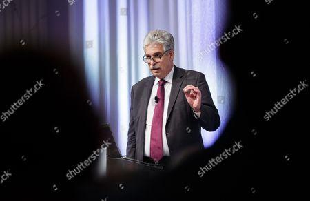 Austrian Finance Minister Hans Joerg Schelling Gestures As He Speaks During the Panel Session 'Finance in a Dialogue' in Vienna Austria 17 November 2016 Austria Vienna