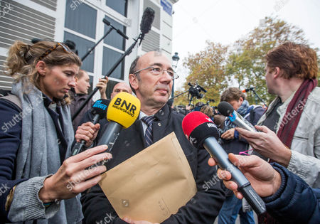 Walloon Minister-president Rudy Demotte Arrives For the Concertation Committee of Belgium in Brussels Belgium 27 October 2016 the Belgian Prime Minister Organized Emergency Talks in an Effort to Save an Eu Free Trade Deal with Canada Called Ceta Blocked by a Belgian Walloon Region Belgium Brussels