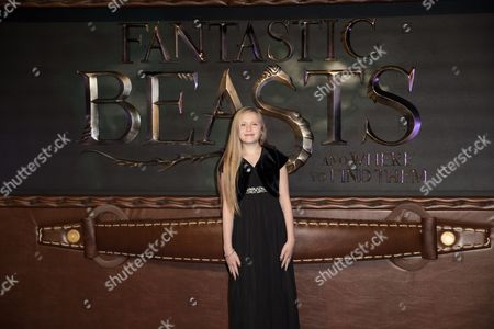 British Actress and Cast Member Faith Wood-blagrove Attends the European Premiere of 'Fantastic Beasts and where Tto Find Them' at Leicester Square in London Britain 15 November 2016 the Movie Opens in British Cinemas on 18 November United Kingdom London