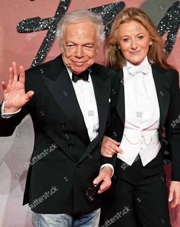 Us Designer Ralph Lauren (l) and Wife Ricky Anne Loew-beer Arrive at the Annual British Fashion Awards Held at the Royal Albert Hall in London Britain 05 December 2016 the British Fashion Awards Recognize the Most Influential People in Fashion Today and Celebrate the Best of Both British and International Talent From the Global Fashion Community United Kingdom London