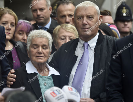 The Parents of Jo Cox Jean Leadbeater (l) and Father Gordon Leadbeater (r) Address the Media Outside of the Old Bailey in Central London Britain 23 November 2016 Tommy Mair Has Been Found Guilty of Murdering Jo Cox Mp in Her Constituency of Batley and Spen West Yorkshire Britain in June 2016 and Has Been Given a Whole Life Sentence United Kingdom London
