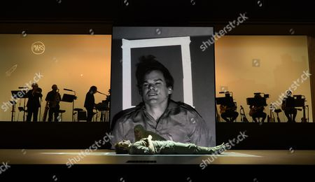 Stock Photo of Us Actors Michael C Hall (front) and Sophia Anne Caruso Perform the 'Life on Mars' Scene of the 'Lazarus' Play at the Kings Cross Theatre in London Britain 03 November 2016 'Lazarus' was Written by the Late British Musician David Bowie and the Irish Playwright Enda Walsh the Production Inspired by the Novel 'The Man who Fell to Earth' was Directed by the Belgian Theater Director Ivo Van Hove United Kingdom London