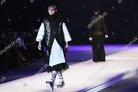 Stock Photo of Models Present Creations From the to Heart Series by Chinese Designers Qi Gang and Chen Kun During the Mercedes-benz China Fashion Week in Beijing China 28 October 2016 the Fashion Week Runs From 25 October to 02 November China Category Beijing