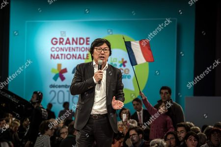 French Minister For State Reform Jean-vincent Place Speaks at a Rally of the Left-wing Movement 'La Belle Alliance Populaire' For the French Socialist Party Presidential Primaries in Paris France 03 December 2016 French President Francois Hollande on 01 December 2016 Announced He Will not Run For Re-election As French President France Paris