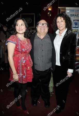 Lucy DeVito, Danny DeVito and Rhea Pearlman