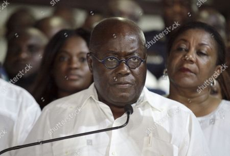 Stock Image of Ghana Opposition Leader of the New Patriotic Party (npp) Nana Akufo-addo Speaks in Accra Ghana 09 December 2016 Ghana's Electoral Commission Announced the Result Late 09 December That Opposition Leader Nana Akufo-addo Had Won Elections with 53 8 Percent of the Vote Beating President John Mahama Ghana Accra