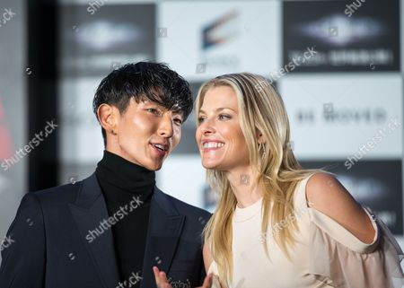 Stock Image of South Korean Actor/cast Member Lee Joon-gi (l) and Us Actress/cast Member Ali Larter (r) Attend the World Premiere of 'Resident Evil: the Final Chapter' in Tokyo Japan 13 December 2016 the Film Will Hit Screens Across Japan From 23 December Japan Tokyo