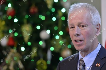 Canadaian Foreign Minister Stephane Dion Speaks at a Joint News Conference with His Lebanese Counterpart Gebran Bassil (not Pictured) After Their Meeting at the Foreign Ministry in Beirut Lebanon 05 December 2016 Dion is on an Official Visit to Meet with Lebanese Officials Lebanon Beirut