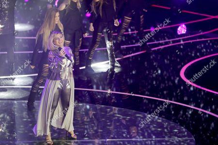 Stock Picture of Poli Genova Performs During the Junior Eurovision Song Contest in Valletta Malta 20 November 2016 Malta Valletta