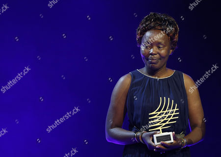 Tegla Loroupe of Kenia Poses with Her Trophy For the Presidents Award 2016 During the Iaaf Athletes of the Year Award Ceremony in Monaco 02 December 2016 Loroupe was the Chef De Mission For the Refugee Olympic Team in Rio Monaco Monaco