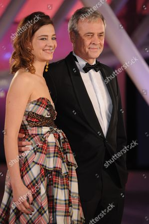 Stock Picture of French Actress Celine Salette (l) and French Director Emmanuel Courcol (r) Attend the Ceasefire Premiere During the 16th Annual Marrakech International Film Festival in Marrakech Morocco 03 December 2016 the Festival Runs From 02 to 10 December Morocco Marrakech