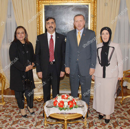 Prime Minister Syed Yousuf Raza Gilani and his wife with the Prime Minister of Turkey, Mr. Racep Tayyep Erdogan and wife