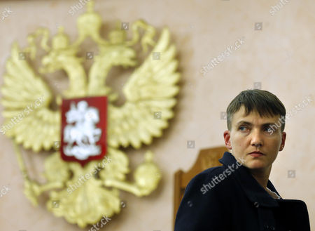 Deputy of Ukrainian Parliament Verkhovna Rada Nadezhda Savchenko Attends a Session of Russian Supreme Court Hearing an Appeal to Review the Sentence of Two Ukrainians in Moscow Russia 26 October 2016 Nadezhda Savchenko Arrived to Support Nikolai Karpyuk and Stanislav Klykh who Are Accused of Killing 30 Russian Soldiers While Taking Part in Combat Actions on Separatist Side in Chechen Republic in December 1994 to January 1995 the Supreme Court Left the Appeal Without Satisfaction Nadezhda Savchenko Came to Russia For the First Time After Her Release From Russian Prison 25 May 2016 Russian Federation Moscow