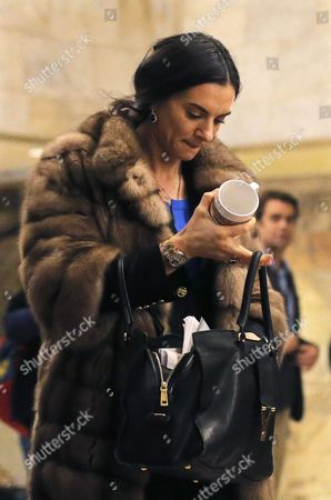 Former Russian Pole Vaulter Yelena Isinbayeva Leaves After All-russia Athletic Federation (araf) President Dmitry Shliakhtin Has Been Re-elected For Another Term During a Araf Election Conference in Moscow Russia 09 December 2016 Russian Federation Moscow