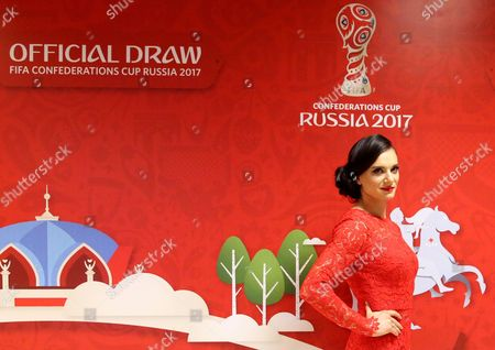 Two-time Olympic Gold Medalist Yelena Isinbayeva Arrives For the Draw of the Fifa Confederations Cup 2017 in Kazan Russia 26 November 2016 Russian Federation Kazan