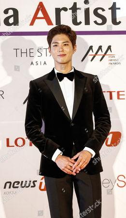 South Korean Actor Park Bo-gum Poses As He Arrives For the Asia Artist Awards 2016 at the Kyunghee University in Seoul South Korea 16 November 2016 Korea, Republic of Seoul