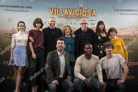Spanish Film Director Nacho Garcia Velilla (3-l) Poses with Spanish Actress Carmen Machi (c) and Spanish Actor Antonio Pagudo (front-r) and Other Crew Members During the Presentation of the Spanish Film Comedy 'Villaviciosa De Al Lado' in Madrid Spain 29 November 2016 the Film Will Be Released Next 02 December 2016 Spain Madrid
