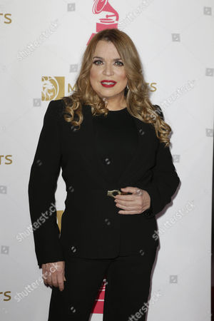 Stock Picture of Ednita Nazario Arrives on the Red Carpet For the 2016 Latin Recording Academy Person of the Year Gala at Mgm Grand Garden Arena in Las Vegas Nevada Usa 16 November 2016 the Gala is Celebrating Artist Marc Anthony For His Artistic Social Contributions to the Latin Music and Culture United States Las Vegas