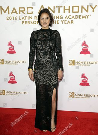 Paulina Reza Arrives on the Red Carpet For the 2016 Latin Recording Academy Person of the Year Gala at Mgm Grand Garden Arena in Las Vegas Nevada Usa 16 November 2016 the Gala is Celebrating Us Musician Marc Anthony For His Artistic Social Contributions to the Latin Music and Culture United States Las Vegas