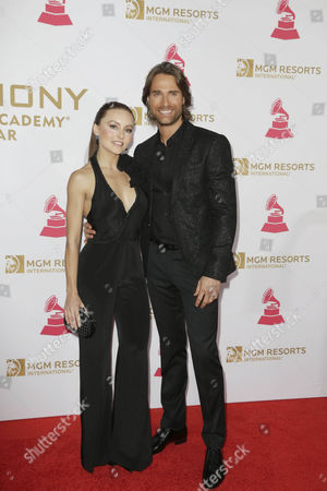 Stock Photo of Angelique Boyer (l) and Sebastian Rulli Arrive on the Red Carpet For the 2016 Latin Recording Academy Person of the Year Gala at Mgm Grand Garden Arena in Las Vegas Nevada Usa 16 November 2016 the Gala is Celebrating Artist Marc Anthony For His Artistic Social Contributions to the Latin Music and Culture United States Las Vegas