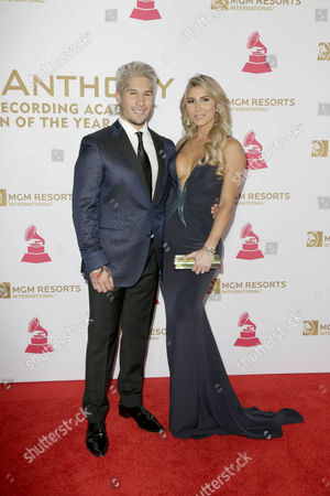 Jesus Mirando (l) and Natasha Araos Arrives on the Red Carpet For the 2016 Latin Recording Academy Person of the Year Gala at Mgm Grand Garden Arena in Las Vegas Nevada Usa 16 November 2016 the Gala is Celebrating Artist Marc Anthony For His Artistic Social Contributions to the Latin Music and Culture United States Las Vegas