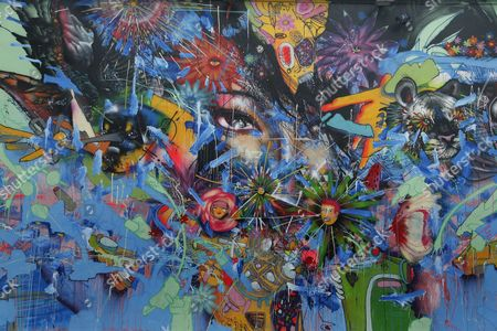 A Close Up of a Mural Painted by Us Artist David Choe in the Wynwood District During Art Basel in Miami Florida Usa 01 December 2016 Art Galleries and Artists From All Over the World Descend on Miami For the Event Which is Considered One of the World's Largest Art Festivals with Art Events Throughout the City United States Miami