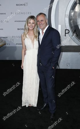Irish Actor Timothy Murphy (r) and Wife Caitlin Manley (l) Arrive For the World Premiere of 'Passengers' at the Regency Village Theatre in Los Angeles California Usa 14 December 2016 'Passengers' is an Action-thriller Based on a Spacecraft and It's Crew and Their 120 Year Journey to Another Planet United States Los Angeles