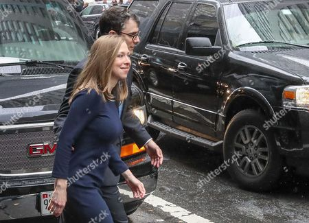 Chelsea Clinton (l) Leaves with Her Husband Marc Mezvinsky (r) After Us Democratic Party Presidential Nominee Hillary Clinton Spoke to Supporters and Staff After Her Defeat to Republican Party Nominee Donald Trump in the 2016 Us Presidential Election at the New Yorker Hotel in New York New York Usa 09 November 2016 President-elect Donald Trump Will Become the 45th President of the United States of America to Serve From 2017 Through 2020 United States New York