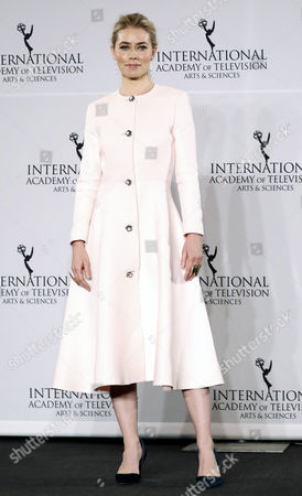 Danish Actress Birgitte Hjort Sorensen Poses in the Press Room at the 44th International Emmy Awards in New York New York Usa 21 November 2016 United States New York