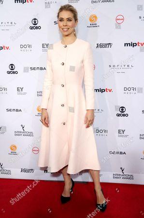 Danish Actress Birgitte Hjort Sorensen Arrives on the Red Carpet For the 44th International Emmy Awards in New York New York Usa 21 November 2016 United States New York