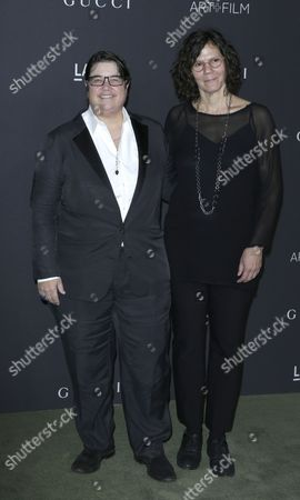 Stock Picture of Us Artists Catherine Opie (l) and Julie Burleigh (r) Arrive For the Lacma Art+film Gala at the Los Angeles County Museum of Art (lacma) in Los Angeles California Usa 29 October 2016 Now in It's Sixth Year the Lacma Art+film Gala Brings Together Noteables From the Art Film Fashion and Entertainment Industries This Year's Honorees Are Us Artist Robert Irwin and Us Filmmaker Kathryn Bigelow United States Los Angeles
