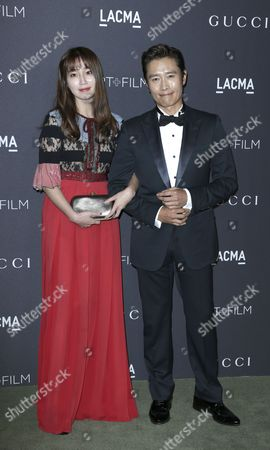 Korean Actors Lee Min-jung (l) and Lee Byung-hun (r) Arrive For the Lacma Art+film Gala at the Los Angeles County Museum of Art (lacma) in Los Angeles California Usa 29 October 2016 Now in It's Sixth Year the Lacma Art+film Gala Brings Together Noteables From the Art Film Fashion and Entertainment Industries This Year's Honorees Are Us Artist Robert Irwin and Us Filmmaker Kathryn Bigelow United States Los Angeles