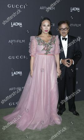 Chinese Restauranteur Michael Chow (r) and Eva Chow (l) Arrive For the Lacma Art+film Gala at the Los Angeles County Museum of Art (lacma) in Los Angeles California Usa 29 October 2016 Now in It's Sixth Year the Lacma Art+film Gala Brings Together Noteables From the Art Film Fashion and Entertainment Industries This Year's Honorees Are Us Artist Robert Irwin and Us Filmmaker Kathryn Bigelow United States Los Angeles