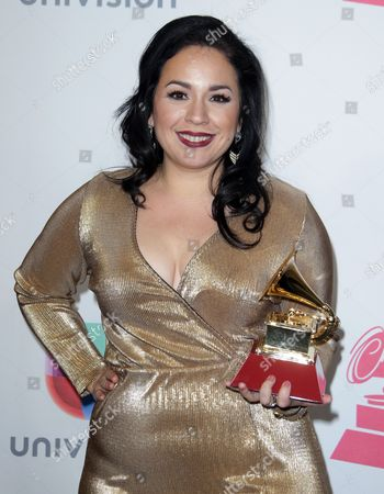 Carla Morrison Poses with Her Award For Best Alternative Song' in the Press Room During the 17th Annual Latin Grammy Awards at the T-mobile Arena in Las Vegas Nevada Usa 17 November 2016 Latin Grammy Awards Recognize Artistic and Technical Achievement not Sales Figures Or Chart Positions and the Winners Are Determined by the Votes of Their Peers and Qualified Voting Members of the Academy United States Las Vegas