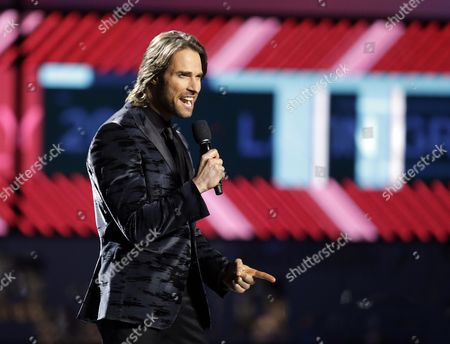 Co-host Sebastian Rulli Speaks During the 17th Annual Latin Grammy Awards at the T-mobile Arena in Las Vegas Nevada Usa 17 November 2016 Latin Grammy Awards Recognize Artistic and Technical Achievement not Sales Figures Or Chart Positions and the Winners Are Determined by the Votes of Their Peers and Qualified Voting Members of the Academy United States Las Vegas