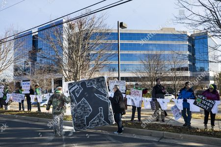 Stock Picture of Gun Control Advocates Protest Outside the National Rifle Association (nra) to Call For 'Sensible Gun Laws' on the Fourth Anniversary of the Sandy Hook Massacre in Fairfax Virginia Usa 14 December 2016 Twenty-year Old Adam Lanza Gunned Down 20 Children and Six School Staffers with an Ar-15 Military-style Assault Rifle at the Connecticut Elementary School on December 14 2012 Leading to a Renewed National Outcry to Reduce Gun Violence United States Fairfax