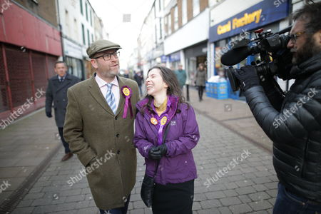 UKIP leader Paul Nuttall and candidate Fiona Mills with deputy leader Peter Whittle AM visiting the constituency of Copeland to launch the party's by-election office. The seat became vacant after sitting MP Jamie Reed resigned.
