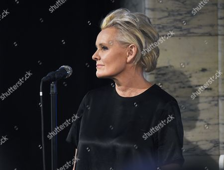 Stock Image of Eva Dahlgren, Attendance at the presentation of scholarships from the Micael Bindefeld Foundation in Memory of the Holocaust, The Royal Swedish Opera,