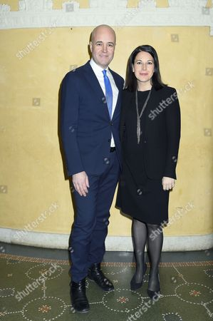 Former Swedish prime minister Fredrik Reinfeldt with his pregnant girlfriend Roberta Alenius who also is his press secretary. Fredrik Reinfeldt has three children with his ex-wife, but this is the first baby for Roberta., Foundation in Memory of the Holocaust