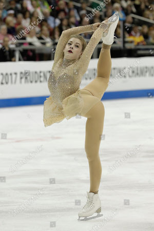 Gracie Gold performs during the women's free skate competition at the U.S. Figure Skating Championships, in Kansas City, Mo