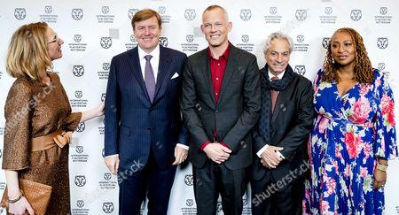 Janneke Staarink, Dutch King Willem-Alexander, Bero Beyer, Gregory Elias and Lisa Cortes