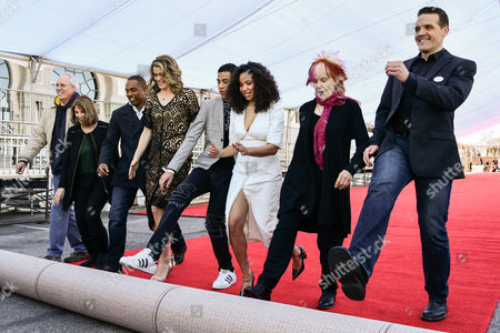 Stock Picture of Red Carpet rollout, Vice Chair Daryl Anderson, actors Jason Winston George, actress Missi Pyle, actor Marcus Scribner, actress Jurnee Smollett-Bell, SAG committee member Shelley Fabares and actor Woody Schultz