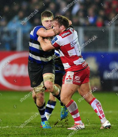 Editorial photo of Bath Rugby v Gloucester Rugby, UK - 27 Jan 2017