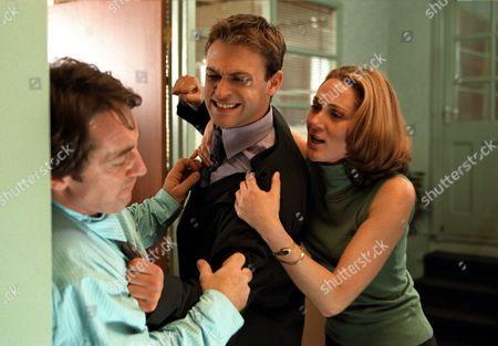 'Blue Dove'   TV  A fight develops between Clare's fiancee Ian, (Robert Cavanah) and her twin brother Nick (Paul Nicholls)