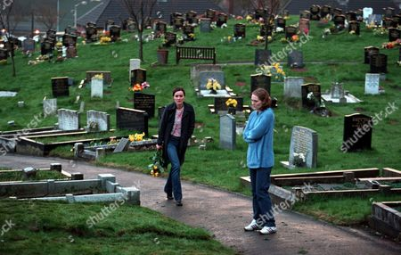 'Blue Dove'   TV  Clare Weston (Esther Hall) and Jenny(Ruth Gemmell) visit the graveyard