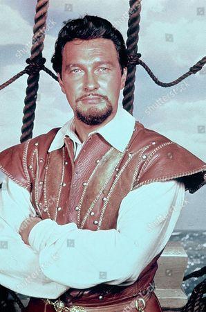 Stock Image of 'Sir Francis Drake' TV - Terence Morgan as Sir Francis Drake