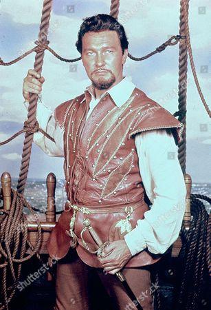 Stock Picture of 'Sir Francis Drake' TV - Terence Morgan as Sir Francis Drake